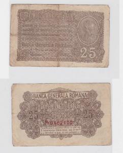 25 Bani Banknote Banca Generale Romana um 1917 (117358)