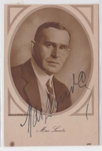 71000 Autograph Karte Deutscher Schauspieler Max Landa um 1935