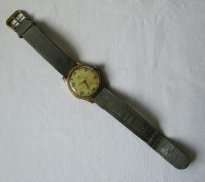 Elegante GUB Glashütte Armbanduhr Stossgesichert Handaufzug 50er Jahre (100128)
