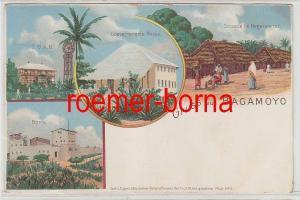 80592 Mehrbild Ak Gruss aus Bagamoyo Strasse im Negerviertel usw. um 1900