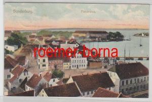 79912 Ak Sonderburg Sønderborg in Dänemark Panorama 1907