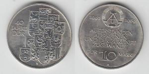 DDR Gedenk Münze 10 Mark 40.Jahrestag der DDR 1989 (117804)