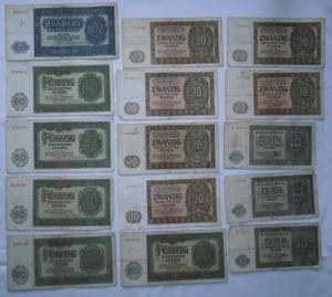 15 Banknoten Deutsche Notenbank DDR 1948 (114437)