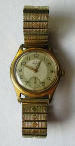 Elegante GUB Glashütte Armbanduhr Kaliber 60-202893 Handaufzug 50er (111268)