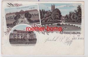84456 Ak Lithographie Gruss aus Sonnenburg N.M. Slonsk Kaserne usw. 1901