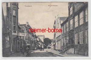 72653 Ak Tondern Tønder Dänemark Westerstraße mit Geschäften 1912