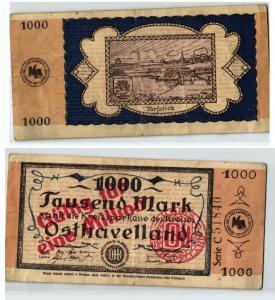 1 Million Mark Banknote Kreissparkasse Osthavelland 1.März 1923 (123630)