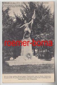 68231 Ak Saarbrücken Denkmal des 70ten Infanterie-Regiments im Ehrental 1917