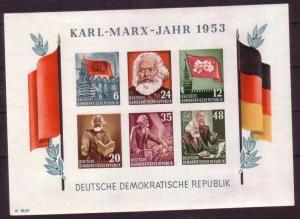 DDR Block 8 A (Karl Marx) postfrisch ** (112657)