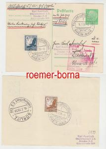 78745 Zeppelin Ganzsachenkarte Deutschlandfahrten 1939 Görlitz Dresden