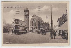 71899 Ak Birmingham Carters Green West Bromwich mit Doppelstock-Straßenbahn 1929