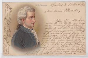 87266 Künstler AK Wolfgang Amadeus Mozart Portrait 1901