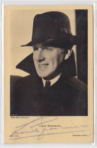 83197 Autograph Karte Deutscher Schauspieler Louis Graveure um 1935