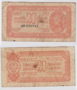 20 Dinar Banknote Jugoslawien 1944 (121639)