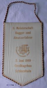 DDR Wimpel VEB Braunkohlenwerk Regis / Schleenhain 1989 (117604)
