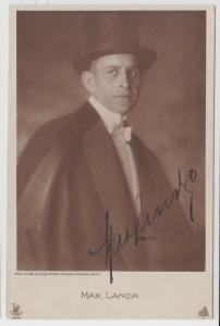 16407 Autograph Karte Deutscher Schauspieler Max Landa um 1935