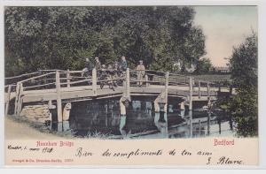 81478 AK Bedford - Newnham Bridge (Newnham Brücke) mit Kindern darauf 1899