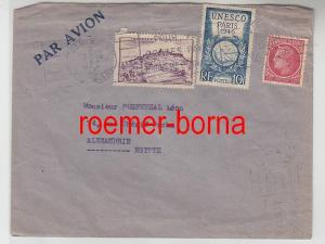 82428 seltener Brief von Frankreich UNESCO nach Ägypten 1946