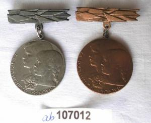 2 Orden CSSR Za socialistickou výchovu Silber und Bronze (107012)