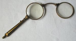 Antikes Lorgnette / Lorgnon, Klappbrille im Jugendstil um 1900 (109449)