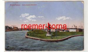 75445 Ak Bremerhaven Kaiserhafen-Einfahrt 1914