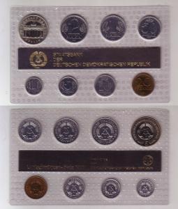 Original Kursmünzsatz DDR 1 Pfennig bis 5 Mark 1987 Stempelglanz (114483)