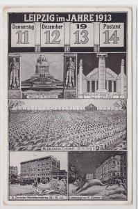77056 Mehrbild AK Leipzig - Datumsanlasskarte 11.12.13 14 - Anlässe im Jahr 1913
