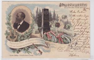 88124 Lied AK Heinrich Pfeil, der deutsche Liedermeister und sein Denkstein 1901
