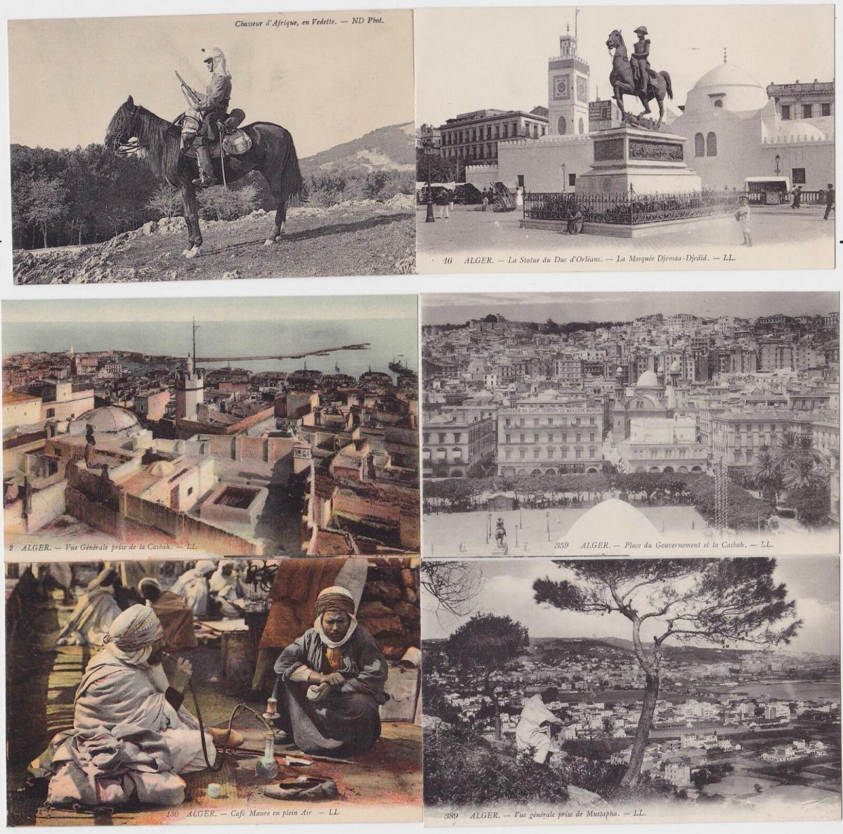 82661/6 Ak Alger Algier Algerien Ortsansichten 1914 0