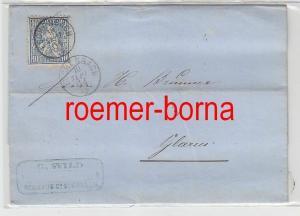 75979 alter Brief Schweiz Eschenbach 10 Rappen 1864 nach Glarus