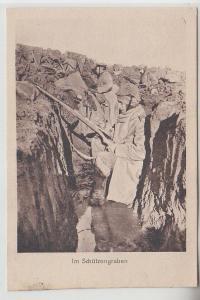 71367 Ak Im Schützengraben 1916 Kriegs-Erinnerungs-Karte