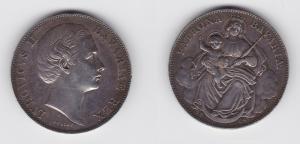 1 Taler Silber Münze Bayern Ludwig II. Madonnentaler 1869 (133210)