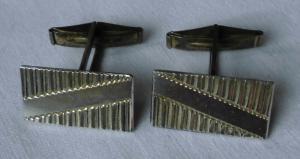 Stilvolle 835er Silber Manschettenknöpfe mit elegantem Streifen Muster (124218)