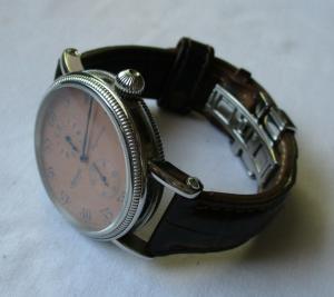 Seltene Herren Armbanduhr Ingersoll Regulateur mit Lederarmband (134329)