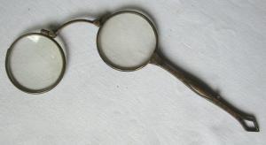 Antike Lorgnette / Lorgnon, Klappbrille im Jugendstil um 1900 (100854)