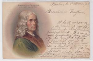 87609 AK Adelbert von Chamisso 30.1.1781-21.8.1838 Portrait 1901