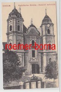 75645 Ak Cholm Russland katholische Kirche um 1920