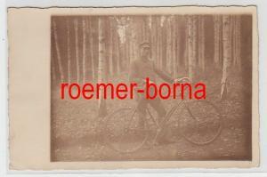 73035 Foto Ak Jugendlicher von der Handelsschule mit Fahrrad 1928