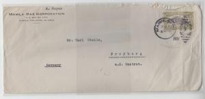 69915 seltener Brief Philippinen Manila nach Freyburg Unstrut 1927