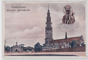 86047 Feldpost Ak Czestochowa Klasztor Jasnogórski 1939