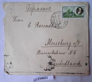 Seltener Brief von Leningrad Sowjetunion nach Merseburg 1927 (114033)