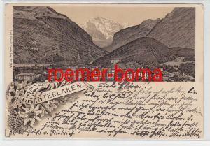 73711 Ak Lithografie Gruss aus Interlaken 1897