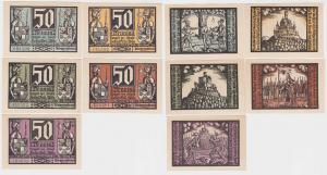 5 x 50 Pfennig Notgeld Stadt Schalkau in Thür. um 1921 (122759)