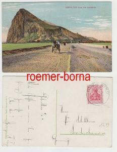 70812 Ak Gibraltar from the Landside Dt. Seepost Ostasiatische Hauptlinie 1911