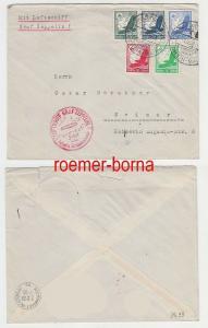 79625 Zeppelin Brief Fahrt übers befreite Sudetenland 01.12.1938