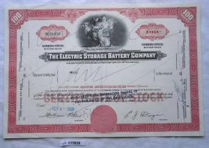 Aktie 100 Dollar The Electric Storage Battery Company 1964 (117639)