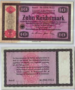 10 RM 1933 Deutsches Reich Konversionskasse für deutsche Auslandsschulden
