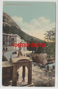 68610 Ak Herkulesfürdö Rumänien Ferencz Jósef Udvar um 1910