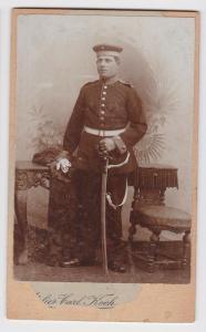 71280 Kabinett Foto Soldat mit Säbel Magdeburg