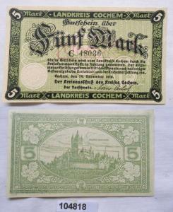 5 Mark Banknote Notgeld Landkreis Cochem 1918 (104818)